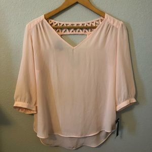 NWT- A.Byer Pink Blouse